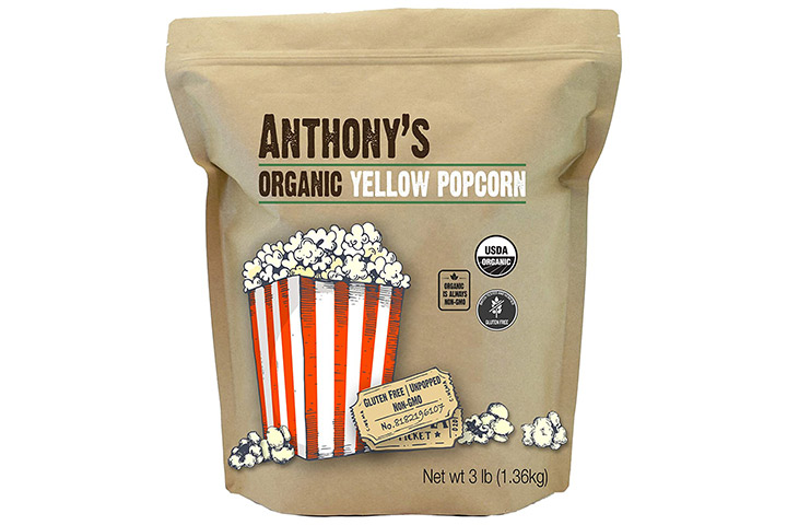 Anthony's Organic Yellow Popcorn Kernels