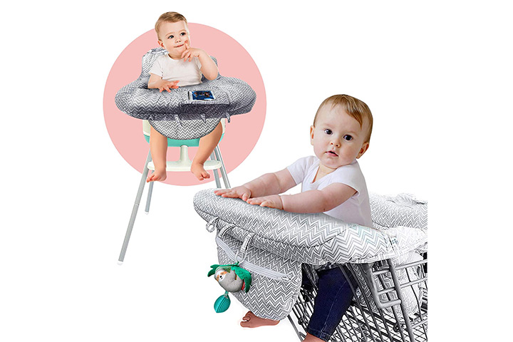 Ashtonbee 2-in-1 Grocery Cart Seat Cover