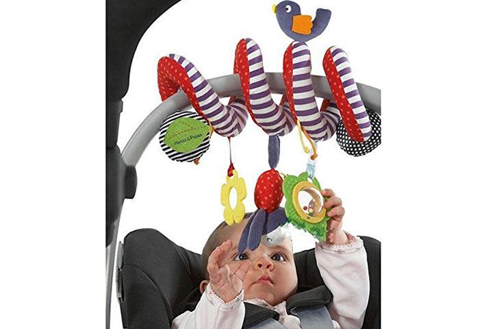 Bigib BeeSpring Hanging Rattles Spiral Stroller Car Seat Toy