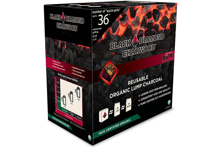 Black Diamond Charwood Organic Lump Charcoal