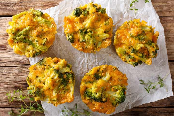 Broccoli and cheddar bites