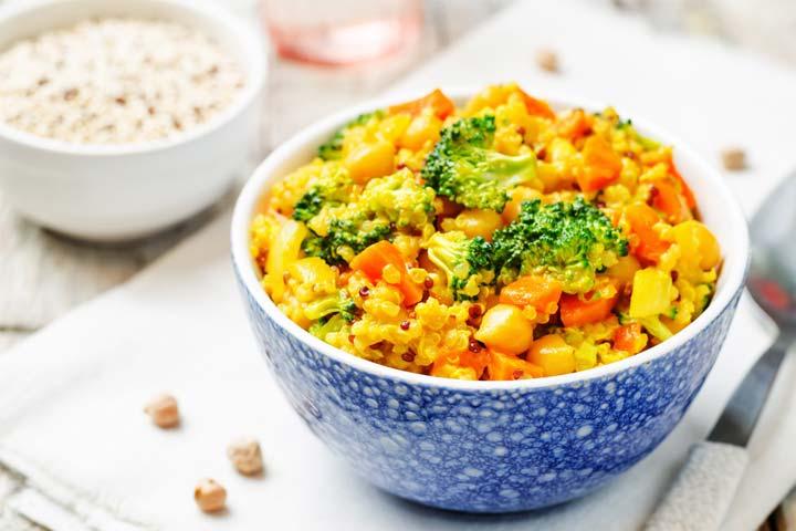 Broccoli quinoa pilaf