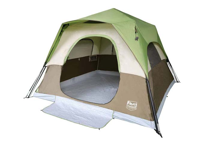 Camping Tent 6 Person Instant Tent by Timber Ridge