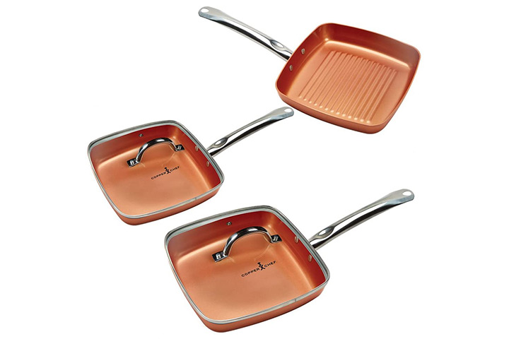 Copper Chef Square Frying Pan Set