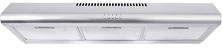 Cosmo Slim Kitchen Stove Vent with 3 Speed Exhaust Fan