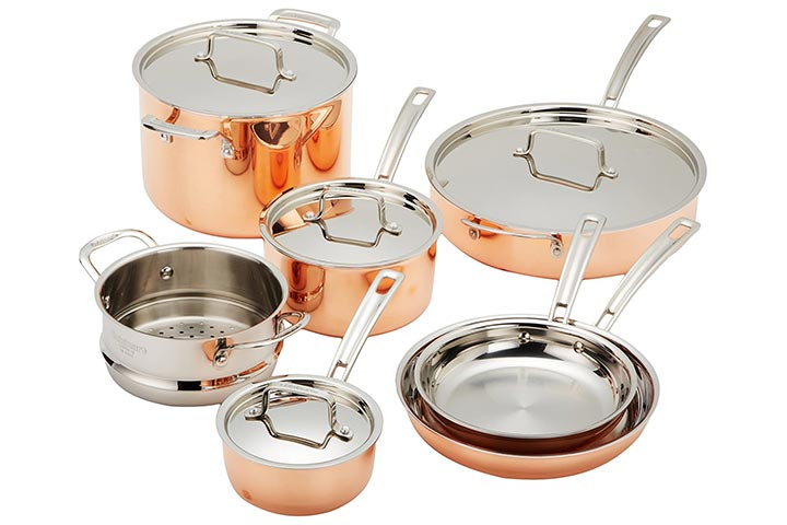 Cuisinart Copper Tri-Ply Cookware Set