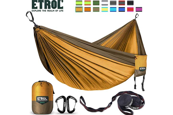 ETROL Upgraded 2 in 1 Large Camping Hammock
