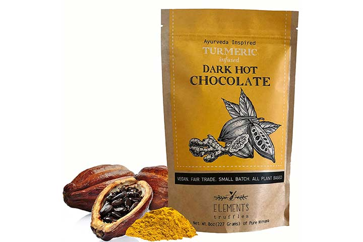 Elements Truffles Turmeric Infused Dark Hot Chocolate