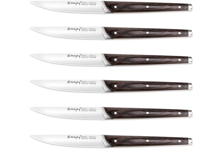 Emojoy 6-Piece High-Quality Steak Knife Set