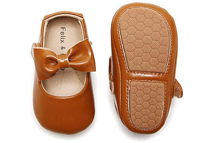 Felix & Flora Soft Sole Leather Baby Shoes - Infant Baby Walking Shoes
