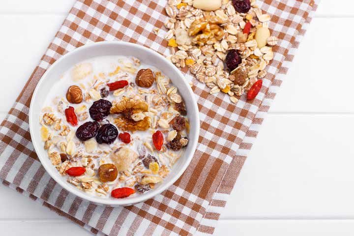 Fruity baby muesli