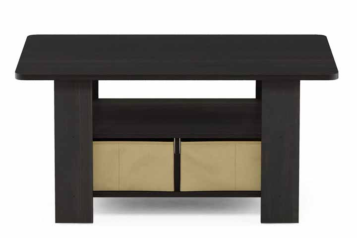Furinno Coffee Table With Bins