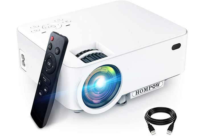 Hompow Smartphone Portable Video Projector