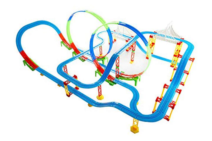 Kiditos Electronic Train Track Racer Educational Building Block