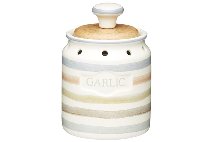 KitchenCraft Classic Collection Ceramic Garlic Keeper