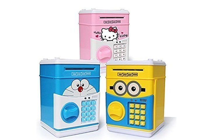 Kruvad Electronic Atom Password Piggy Bank