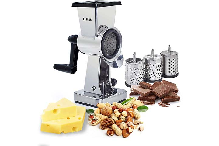 LHS Rotary Cheese Grater Stainless Steel Body