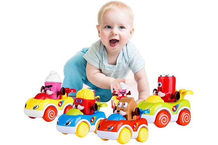 LUKAT Toddler Toy Cars Set