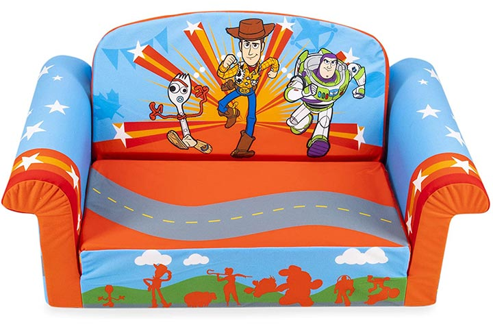 Marshmallow Furniture 2-in-1 Flip Open Sofa