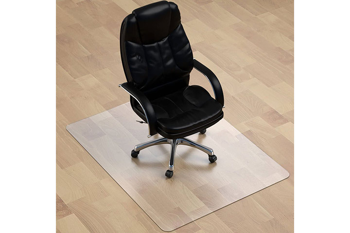 MuArts Crystal Clear Heavy Duty Hard Chair Mat