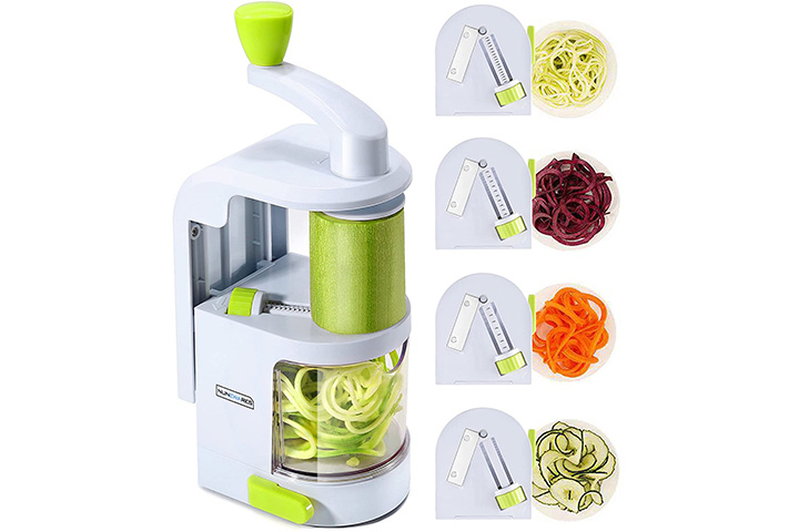 Nunewares 4-in-1 Handheld Vegetable Spiralizer