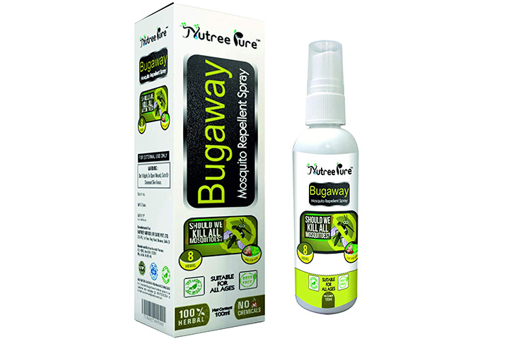 Nutree Pure Bugaway Herbal Mosquito Repellent Oil Spray