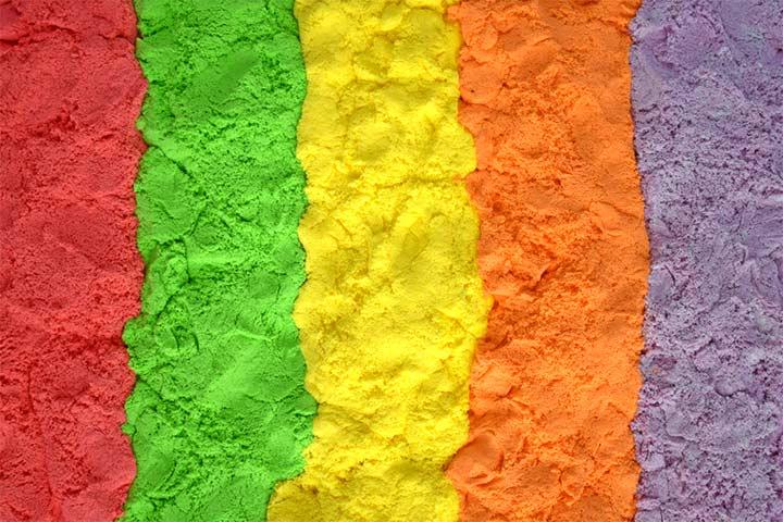 Rainbow And Unicorn Kinetic Sand