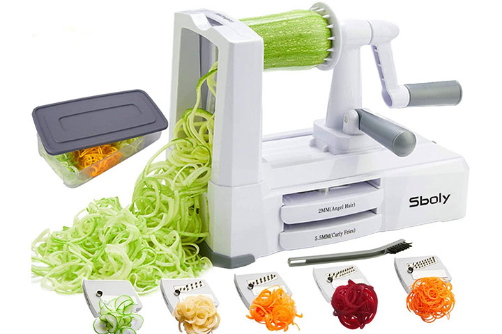 Sboly 5-in-1 Vegetable Slicer and Zoodle Maker