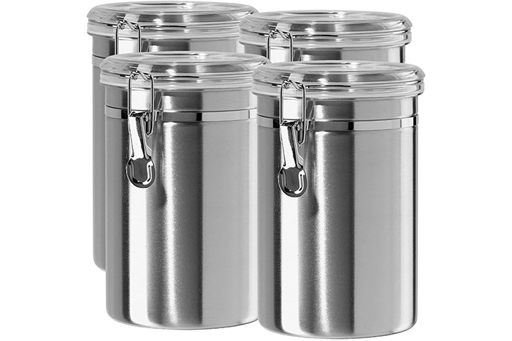 Silver Onyx Stainless Steel Coffee Container Set