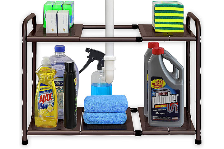 Simple Houseware Under-Sink 2 Tier Expandable