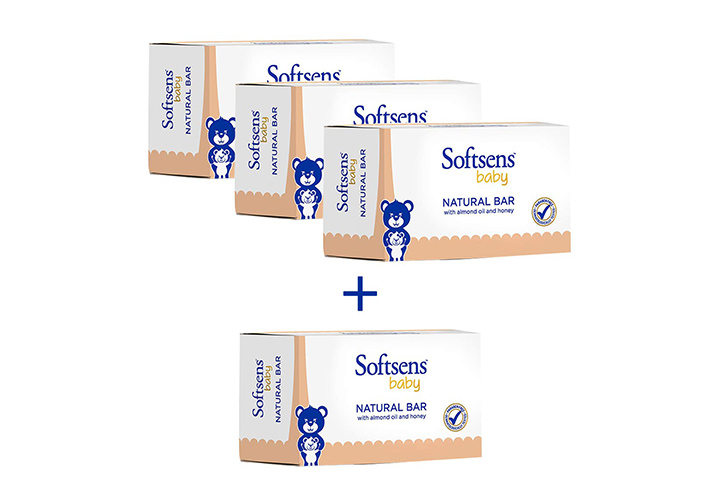 Softsens Baby Natural Bar Soap with Honey