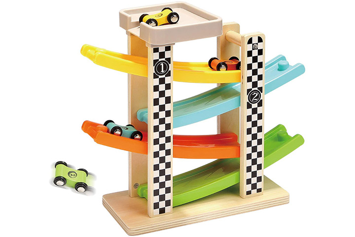 TOP BRIGHT Wooden Race Track