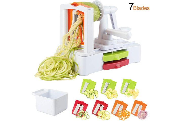 Toroton 7-Blade Vegetable Slicer and Zoodle Maker