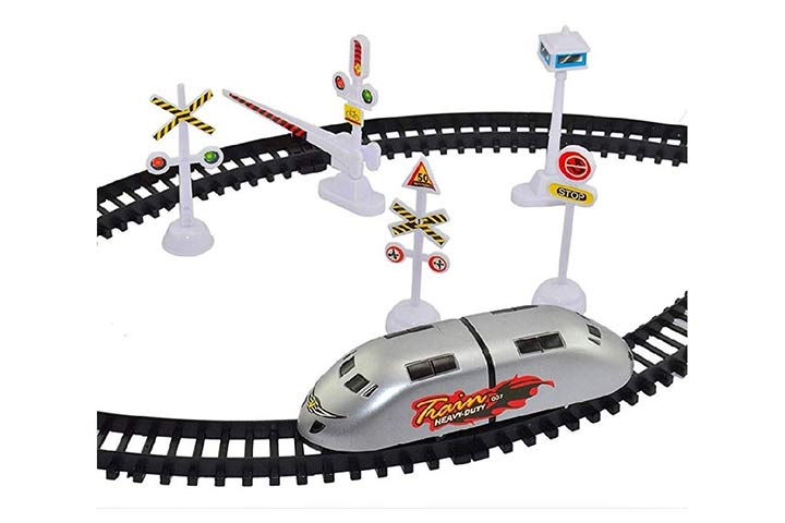 Toyarin high speed bullet train toy set game track
