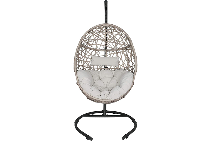 Ulaxfurniture Wicker Hanging Basket Swing Chair