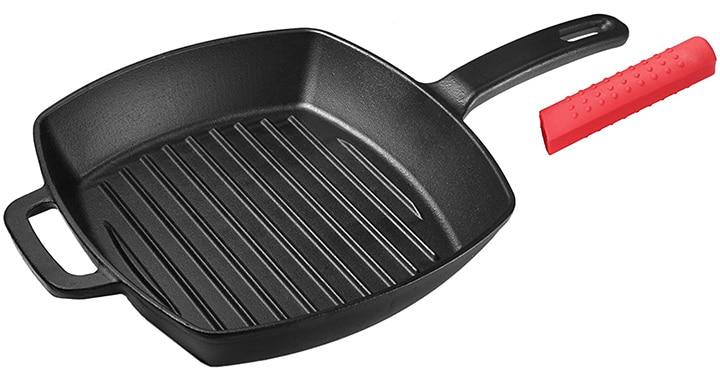 Unicook Cast Iron Grill Pan
