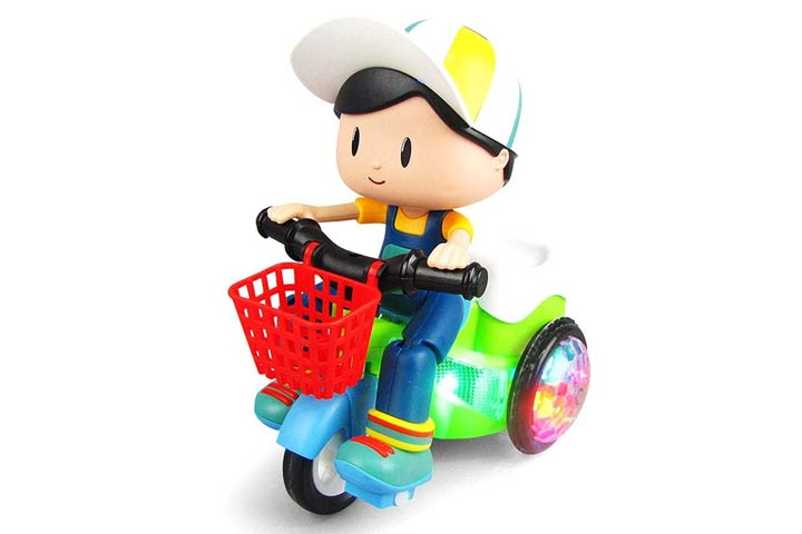 Zest 4 Toys Stunt Tricycle Bump and Go Toy