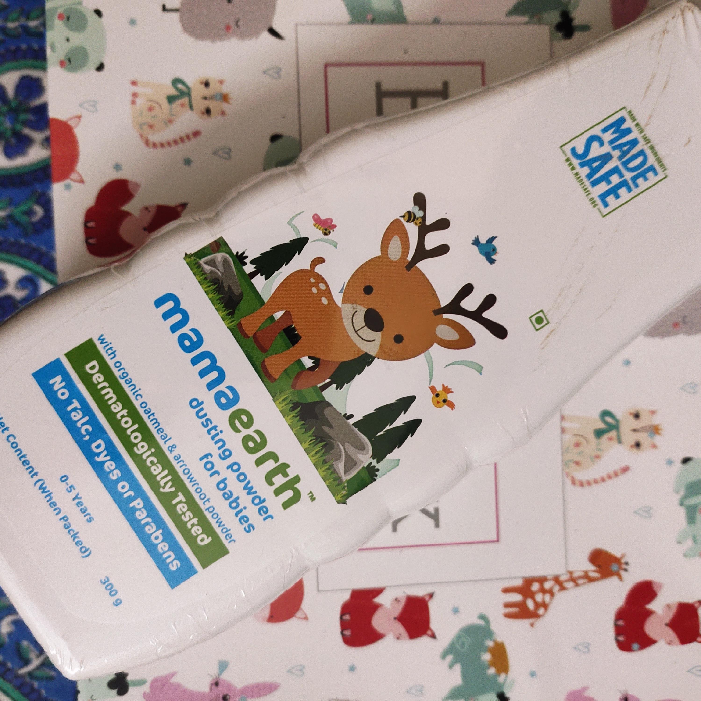 Mamaearth Dusting Powder For Babies-Plant based dusting powder-By rashmi_sharma