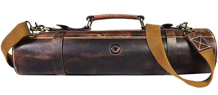 Aaron Leather Goods Vendimia Estilo Store Knife Roll