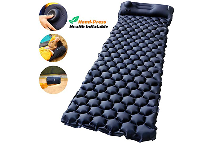 Air Expert Camping Sleeping Pad with Built-in Pump