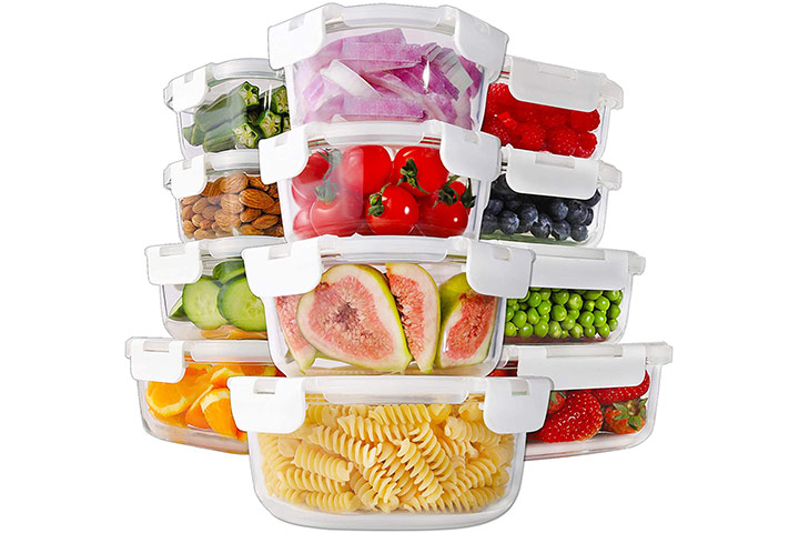 Bayco 24-Piece Glass Food Storage Containers