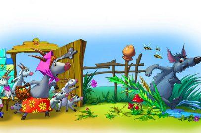भेड़िया और बकरी के सात बच्चों की कहानी | Bhediya Aur Bakri Ke Sath Bache