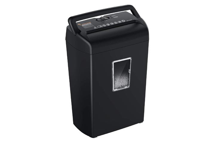 Bonsaii 10-Sheet Cross-Cut Paper Credit Card Shredder for Home and Office Use