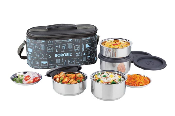 Borosil Carryfresh Lunch Box Set