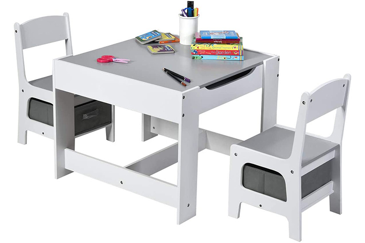 Costzon Kids Wood Table and Chair Set
