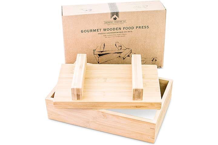 Country Trading Co. Gourmet Wooden Tofu Press