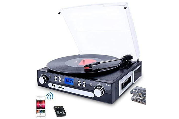 DIGITNOW Bluetooth Record Player with Stereo Speakers Turntable