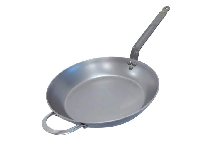 De Buyer Mineral B Round Carbon Steel Fry Pan 12.5-Inch