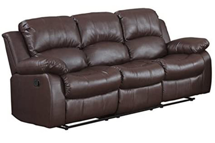 Divano Roma Bonded Leather Double Recliner Sofa