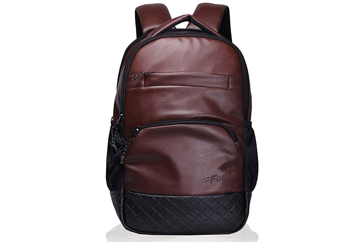 F Gear Luxur Brown Laptop Backpack
